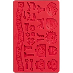 Wilton monster robots fondant silicone mould