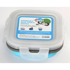 Good 2 Go square 220ml blue container