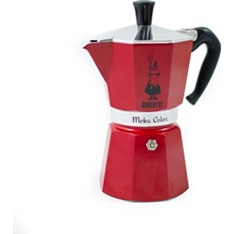 Bialetti Moka red 6 cup stovetop coffee maker