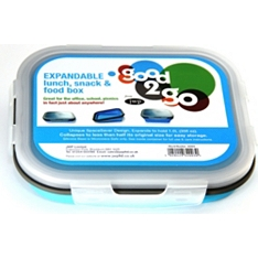 Good2Go rectangular 1ltr silicone blue container