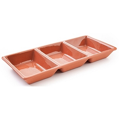 DMD Terracotta divided serving dish