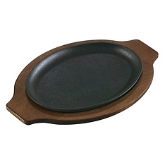 Lodge cast iron handleless oval serving griddle