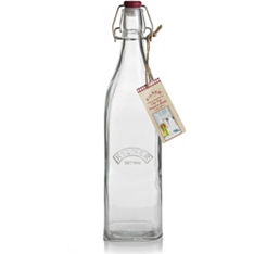 Kilner square clip top bottle, 1 litre