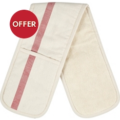 Waitrose herringbone double oven glove