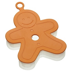 Let's Make soft touch gingerbread man cookie cutter