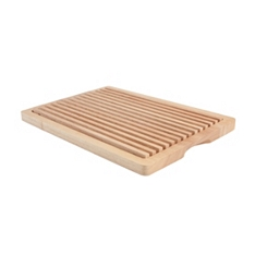 Hevea bread cutting board with removeable section