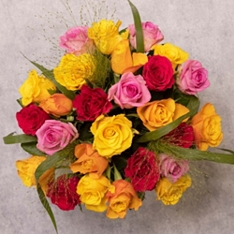 Mother's Day Bright Sweetheart Roses