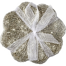 Waitrose Dining  silver beaded coaster, set of 4