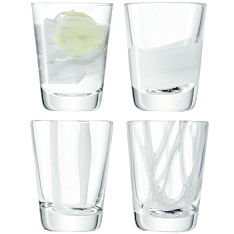 LSA Cirro white tumbler glasses, set of 4