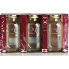 Kilner preserve jars, 1 litre, set of 3