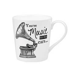 About Time Gramophone mug
