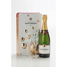 Tattinger Champagne & Glasses Set
