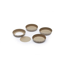 Paul Hollywood Set of 4 Non-Stick Round Fluted Tart Tins