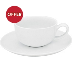 Waitrose Chef's White cup & saucer