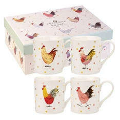 Churchill China Rooster mugs, set of 4
