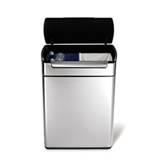 Simplehuman 24/24L brushed steel touch bar bin