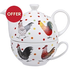 Churchill China Rooster tea for one