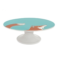 Joules fox cake stand