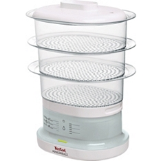 Tefal white mini compact steamer