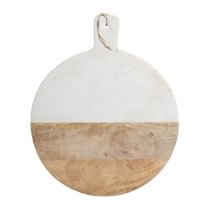 Kitchencraft marble & mangowood round paddle board
