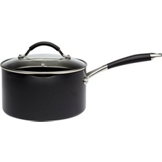 Waitrose Cooking 20cm aluminium saucepan with lid