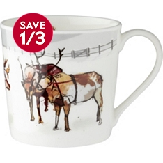 WR Bone China Dorset Reindeer Mug