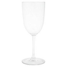 Waitrose acrylic wine glasses, set of 4