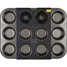 from Waitrose non-stick twelve hole deep baking tin