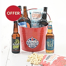 Best of British Beer Pail with Snacks