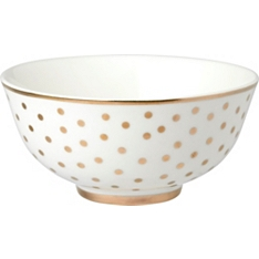 Waitrose 12cm gold oriental small spots bowl