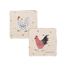 Churchill China Rooster coasters, set of 4