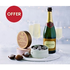 Champagne & TrioTruffle Gift Set