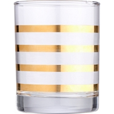 Waitrose gold stripe tumbler