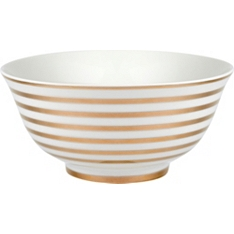 Waitrose 16cm gold oriental medium stripe bowl