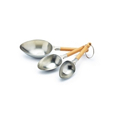 Paul Hollywood stainless steel measuring scoops, set of 3