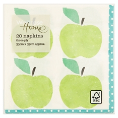 Waitrose Home Apple Napkin 20