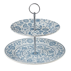 Churchill China Penzance 2 tier cake stand
