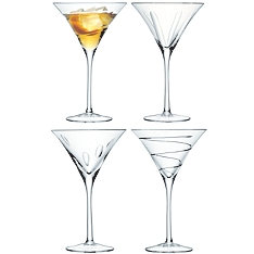 LSA Charleston cocktail glasses,set of 4