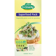 Biosnacky superfood mixed seeds, pack of 4