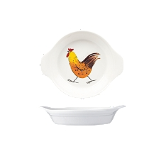 Churchill China Rooster mini round dish