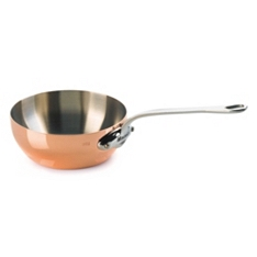Mauviel M'Heritage copper splayed saute pan, 20cm