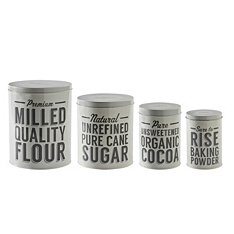 Mason Cash Baker Street baking storage tins, set of 4