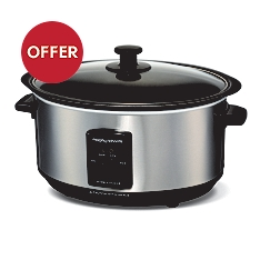 Morphy Richards Stainless Steel Sear & Stew Slow Cooker, 48701