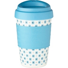 Waitrose blue floral to go coffee cup