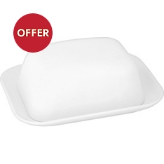 Waitrose Chef's White butter dish