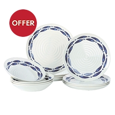 Churchill China Sieni fishie on a dishie 12 piece dinner set