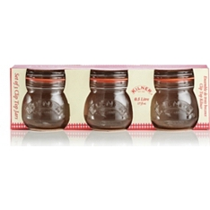 Kilner round clip top jars, 0.5 litre, set of 3