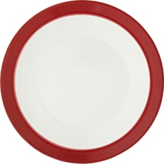 Waitrose Dining Oxford red side plate