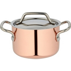 Waitrose Cooking mini copper casserole pan