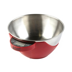 Russell Hobbs Heritage Classico 5kg red bowl scale